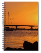 Sunset At Sarasota Bayfront Park Spiral Notebook