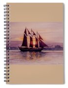 Sunset At Sea Spiral Notebook