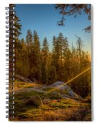 Sunset At Sequoia Spiral Notebook
