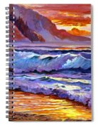 Sunset At Shipwreck Beach Spiral Notebook