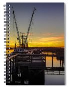 Sunset At Skippers Fish Camp Spiral Notebook