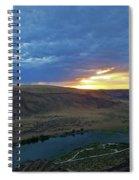 Sunset At Snake River Canyon 1 Spiral Notebook