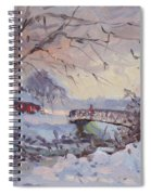 Sunset At Snow-covered Niawanda Park Spiral Notebook