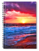 Sunset At Strands Beach Spiral Notebook