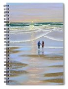 Sunset At The Beach Spiral Notebook