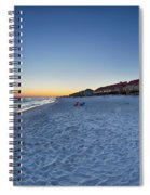 Sunset At The Beach In Florida Spiral Notebook