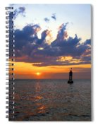 Sunset At The Bell Buoy Spiral Notebook