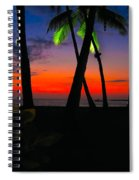Sunset At The Big Island Of Hawaii Spiral Notebook