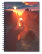 Sunset At The Canyon Spiral Notebook