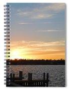 Sunset At The Causeway Spiral Notebook