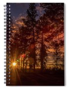 Sunset At The End Of The Hike Spiral Notebook