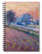 Sunset At The Farm Spiral Notebook