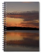 Sunset At The Gulf Of Bothnia 4 Spiral Notebook