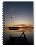 Sunset At The Gulf Of Bothnia  Spiral Notebook
