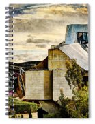sunset at the marques de riscal Hotel - frank gehry - vintage version Spiral Notebook