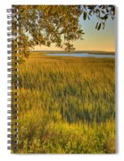Sunset At The Marsh Spiral Notebook