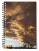 Sunset At The New Mexico State Capital Spiral Notebook