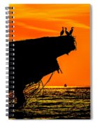 Sunset At The Ss Atlantus Concrete Ship Spiral Notebook
