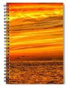 Sunset At The Ss Atlantus - Pano Spiral Notebook