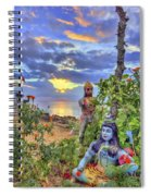 Sunset At The Temple Spiral Notebook