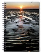 Sunset At The West Shore Llandudno Spiral Notebook