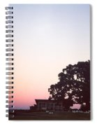 Sunset At The Winery Spiral Notebook