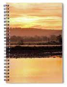 Sunset At Triabunna Tasmania Spiral Notebook