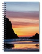 Sunset At Whalehead Beach Spiral Notebook