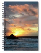 Sunset Bandon By The Sea Spiral Notebook