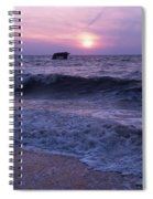 Sunset Beach Nj And Ship Spiral Notebook