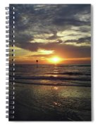 Sunset Beauty At Clearwater Spiral Notebook