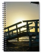 Sunset Behind A Lifeguard Station On Venice Beach Ca Spiral Notebook