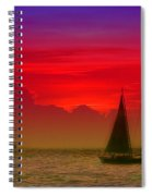 Sunset Behind The Clouds Spiral Notebook