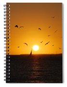 Sunset Birds Key West Spiral Notebook