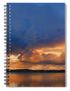 Sunset Blues Spiral Notebook