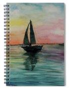 Sunset Boat 1 Spiral Notebook