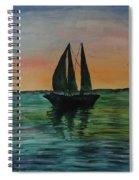 Sunset Boat 2 Spiral Notebook