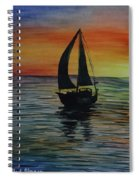 Sunset Boat 3 Spiral Notebook