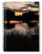 Sunset Boat Spiral Notebook
