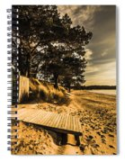 Sunset Boat Shed Spiral Notebook