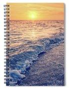 Sunset Bowman Beach Sanibel Island Florida Vintage Spiral Notebook