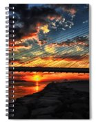 Sunset Bridge At Indian River Inlet Spiral Notebook
