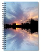 Sunset Brushstrokes Spiral Notebook