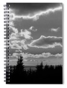 Sunset Bw Spiral Notebook