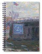 Sunset By Tonawanda Bridge  Spiral Notebook