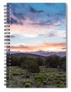 Sunset Cerillos Spiral Notebook