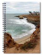 Sunset Cliffs With Bird Rock Spiral Notebook