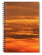 Sunset Clouds On Fire Spiral Notebook