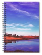 Sunset Clouds Over Wyoming Spiral Notebook