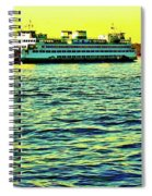 Sunset Cruise On The Ferry Spiral Notebook